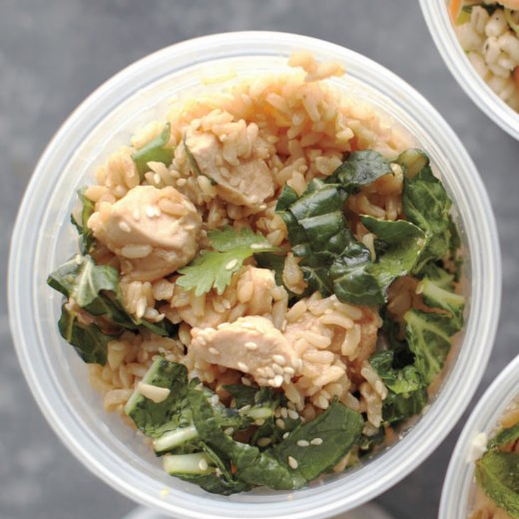 Brown Rice, Chicken, and Cilantro Salad Recipe