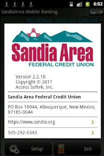 Sandia Area Mobile Banking - screenshot thumbnail