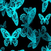3D Luminous butterfly