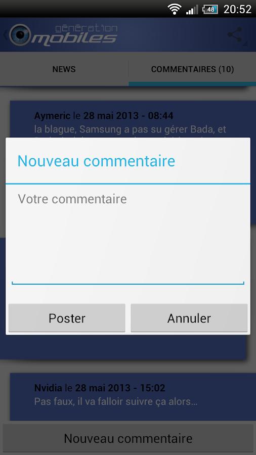 Génération mobiles - screenshot