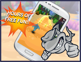 Screenshot of Shark Run 3D: Feeding Frenzy!