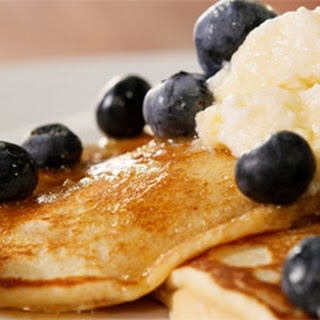 Hotcakes With Blueberries And Ricotta.