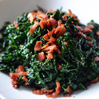 Quick and Simple Stir-Fried Kale and Bacon.