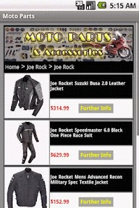 MOTORCYCLE PARTS & Accessories screenshot 1