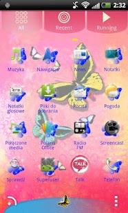 GO Launcher EX Theme Butterfly- screenshot thumbnail