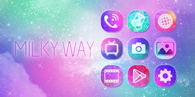 Screenshot of Milky Way GO Launcher Theme