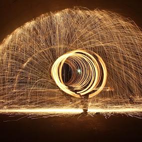 Steel Wool Fire by Brenda Hooper - Abstract Fire & Fireworks ( abstract, photograph, park, steel wool, fire,  )