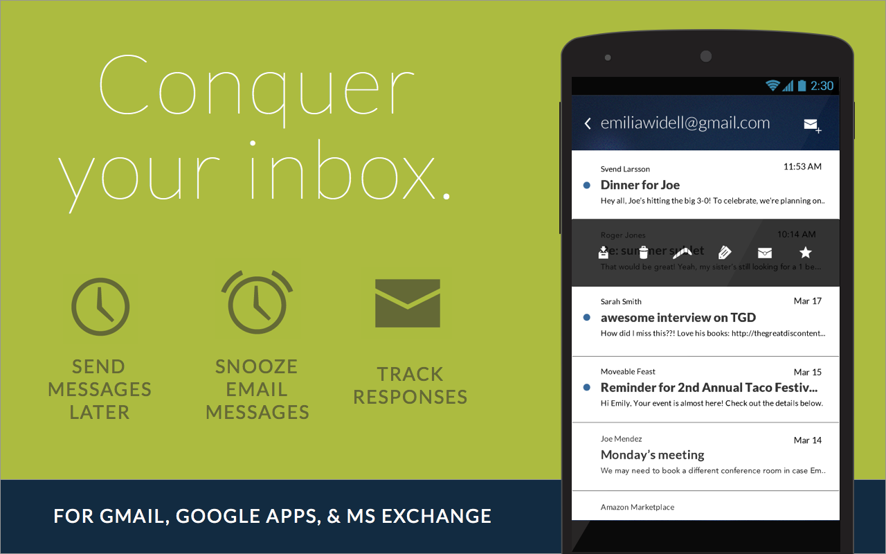 Email App for Gmail & Exchange - screenshot
