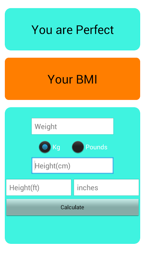 Just BMI - screenshot
