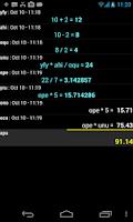 Screenshot of Accounting calc / spreadsheet