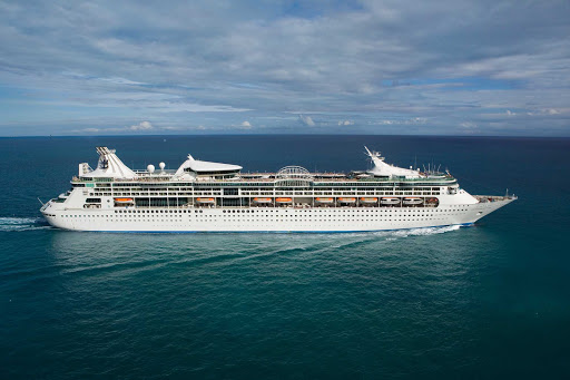 RCI-Enchantment-of-the-Seas-aerial-3 - Enchantment of the Seas has 11 decks, 8 pools & whirlpools and 8 bars & lounges.