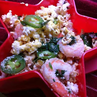 Sizzling Shrimp Popcorn with Jalapeños