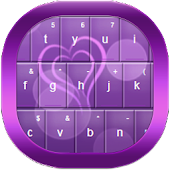 Purple Bokeh Hearts Keyboard