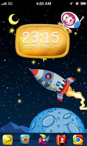 Space Flight GO Launcher Theme