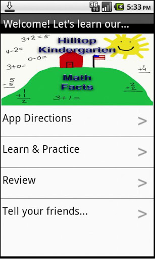 【免費教育App】Hilltop Kindergarten Math Fact-APP點子