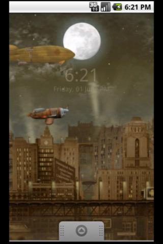 Steampunk Blimp City LWP- screenshot