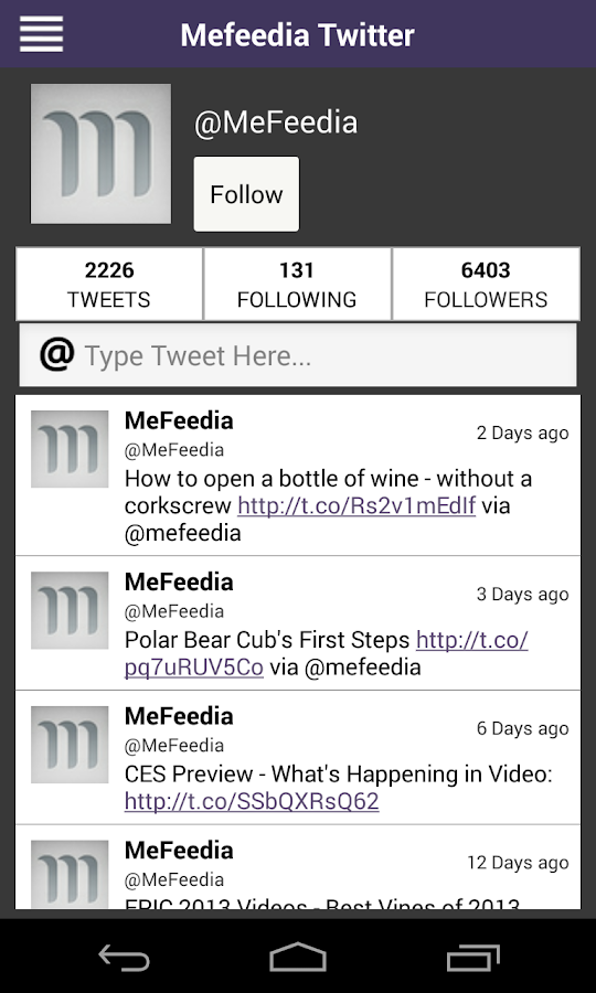 MeFeedia- screenshot