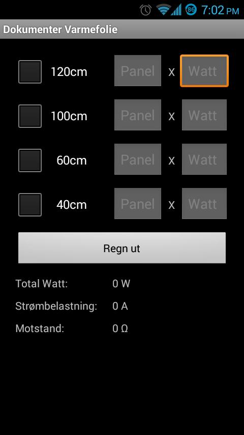 Elektro Installasjons Formler- screenshot