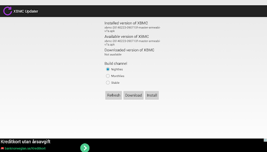 XBMC Updater - screenshot thumbnail