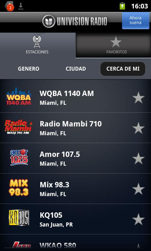 Univision Radio - screenshot