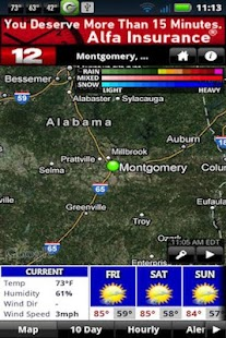 WSFA Doppler 12 Storm Vision - screenshot thumbnail
