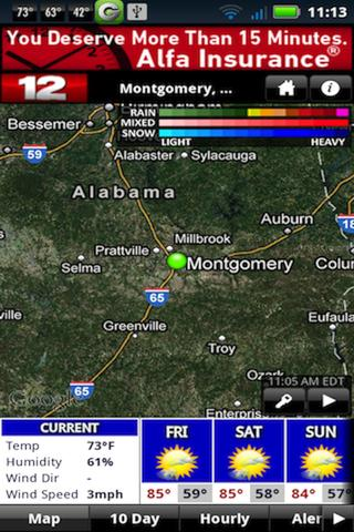 WSFA Doppler 12 Storm Vision - screenshot
