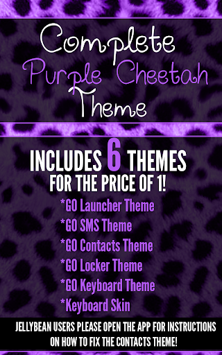 Complete Purple Cheetah Theme