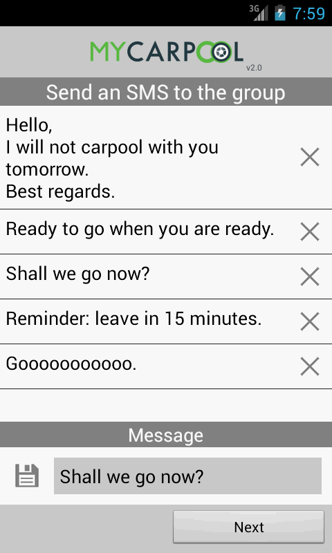 myCarpool- screenshot