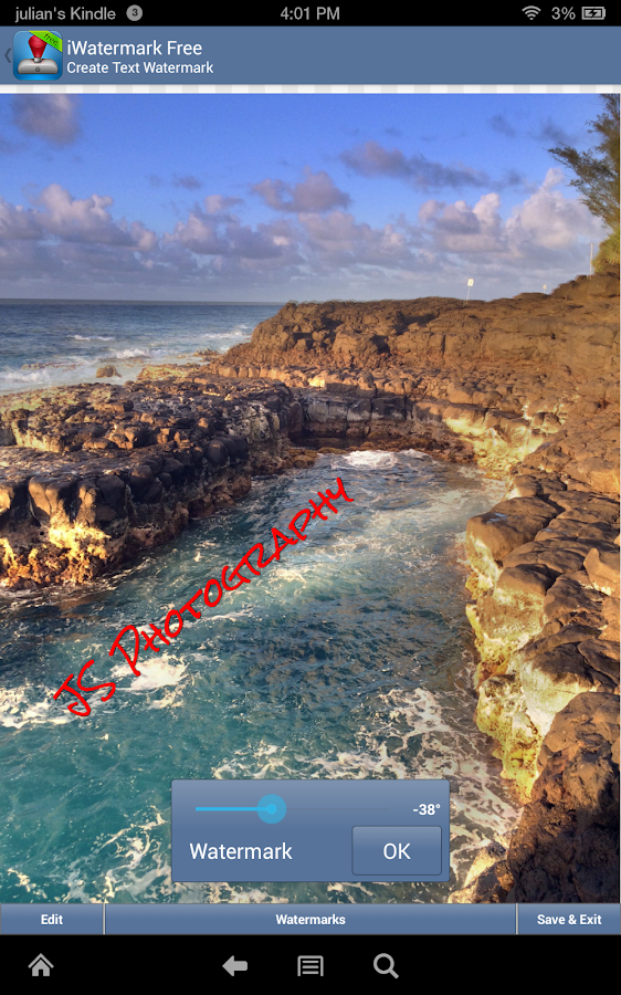 how to add watermark in google photos