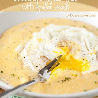 Cheddar Garlic Grits with Fried Eggs