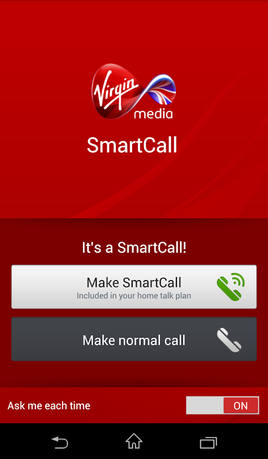 Virgin Media SmartCall - screenshot
