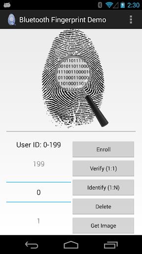 Bluetooth Fingerprint Demo