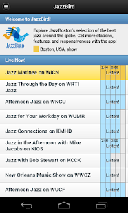 JazzBird from JazzBoston- screenshot thumbnail