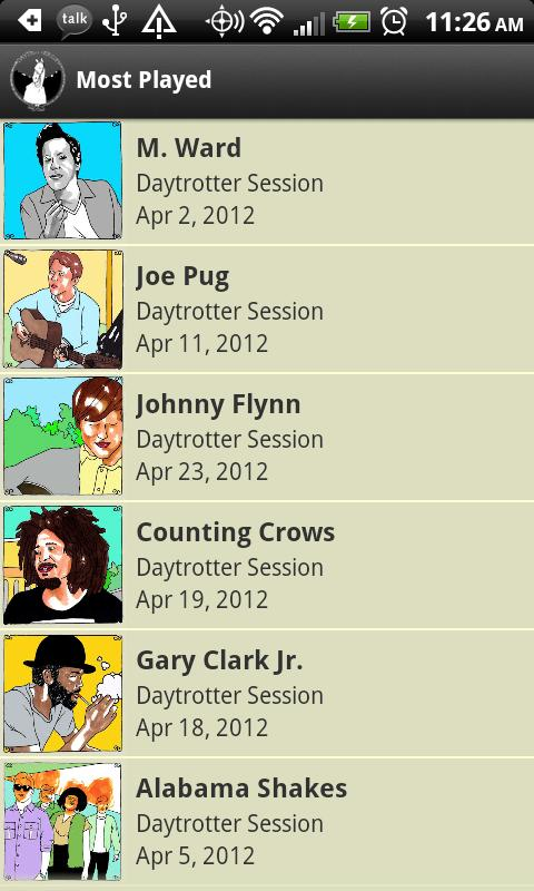 Daytrotter - screenshot