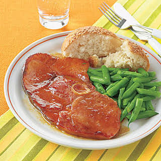 Maple-Glazed Ham Steak.