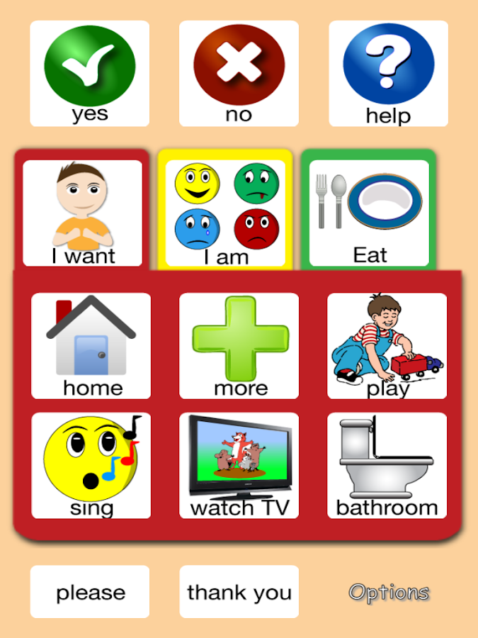 Gabby Tabs - AAC for Kids - screenshot