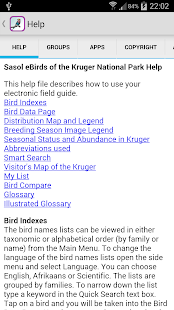 Sasol eBirds: Kruger Park- screenshot thumbnail