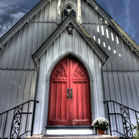 Boonton Church by Ward Vogt - Buildings & Architecture Places of Worship ( red, church, boonton, door, holy, nj, worship, photography, ward vogt, new jersey )