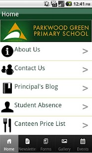 Parkwood Green Primary School screenshot