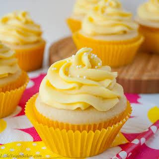 Tropical Mango Vanilla Cupcakes.