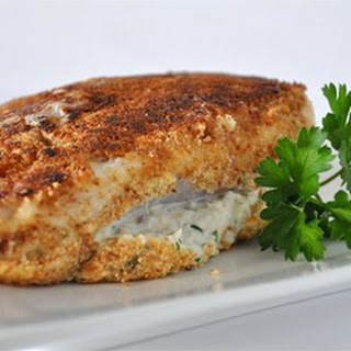 Chicken Breasts Stuffed with Crabmeat.