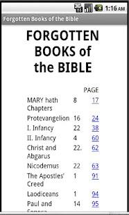 Forgotten Books of the Bible- screenshot thumbnail