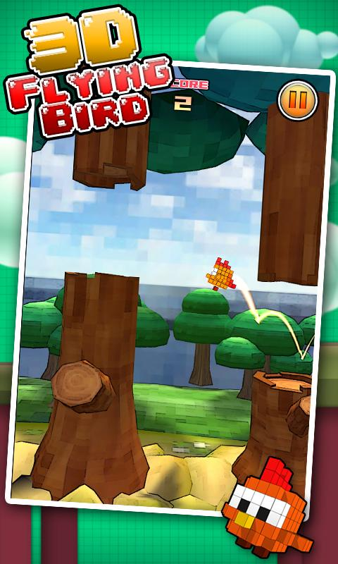 Flying Bird 3D - tap to flap- screenshot