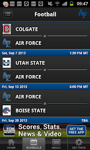 Air Force Falcon Sports - screenshot thumbnail