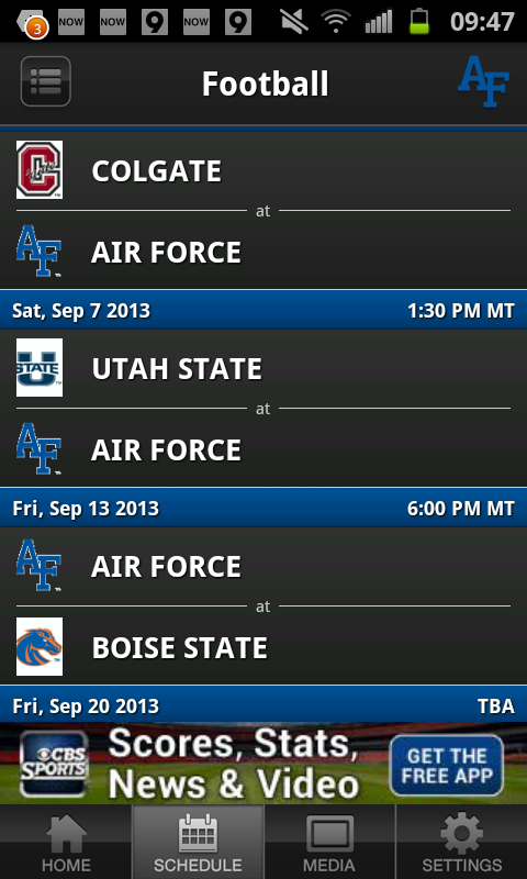 Air Force Falcon Sports - screenshot