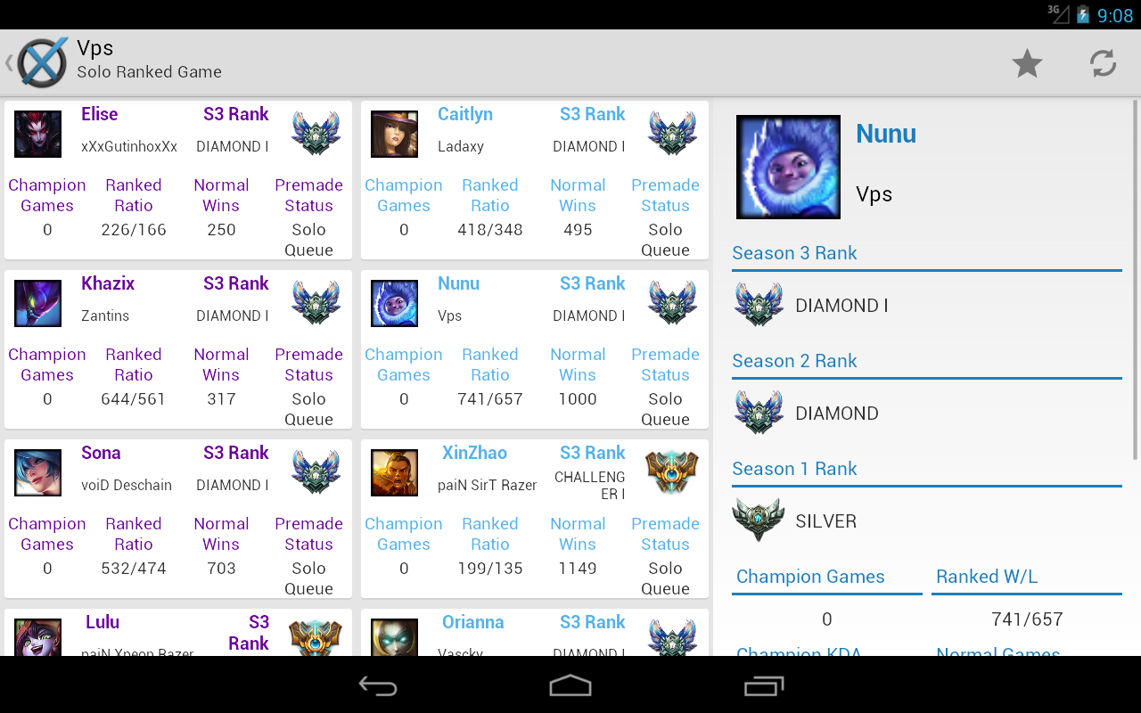 LoLNexus - LoL Match Scouter - screenshot