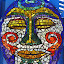 Mosaic face by Kirsten Gamby - Artistic Objects Other Objects ( , colorful, mood factory, vibrant, happiness, January, moods, emotions, inspiration )