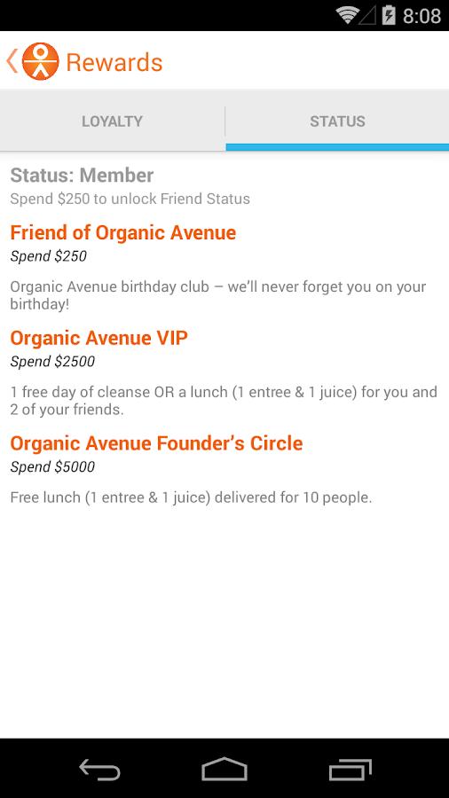 Organic Avenue- screenshot