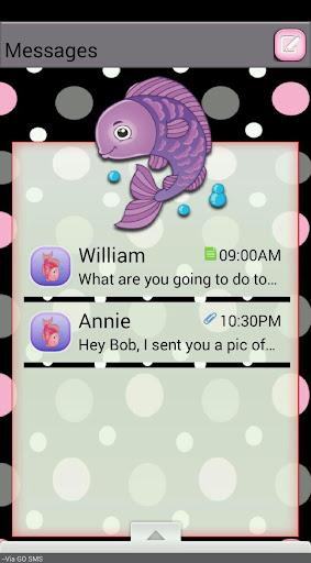 FishyBubbles GO SMS THEM