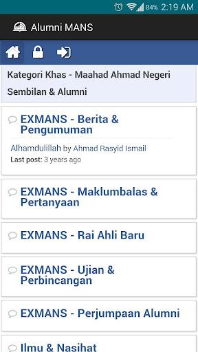 Alumni Maahad Ahmadi MANS